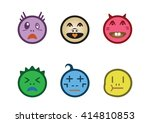 cartoon faces with difference... | Shutterstock .eps vector #414810853
