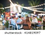 people sit in a blur banquets. | Shutterstock . vector #414819097
