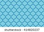 seamless azure blue vintage... | Shutterstock .eps vector #414820237