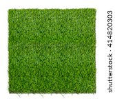 grass mat on white background.... | Shutterstock . vector #414820303