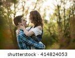 boho couple happiness | Shutterstock . vector #414824053
