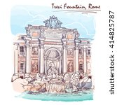 trevi fountain in rome  italy.... | Shutterstock .eps vector #414825787
