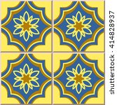 ceramic tile pattern oriental... | Shutterstock .eps vector #414828937