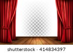 theater curtains with a... | Shutterstock .eps vector #414834397
