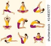 vector yoga illustration. yoga... | Shutterstock .eps vector #414835777