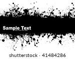 black ink splat background with ... | Shutterstock .eps vector #41484286