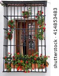 traditional andalusian balcony... | Shutterstock . vector #414853483