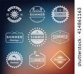 set of summer holidays labels... | Shutterstock .eps vector #414861163