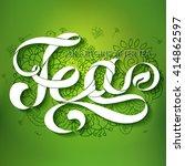tea. white ribbon text...   Shutterstock .eps vector #414862597