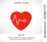 hearts vector icon | Shutterstock .eps vector #414867757