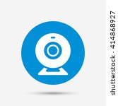 webcam sign icon. web video... | Shutterstock .eps vector #414868927