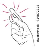snap of the fingers  hand  palm ... | Shutterstock .eps vector #414872323