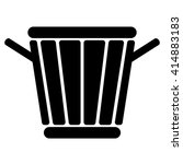 trashcan sign. | Shutterstock .eps vector #414883183
