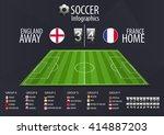 soccer field with scoreboard... | Shutterstock .eps vector #414887203