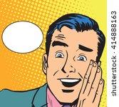 male hearing gossip   Shutterstock .eps vector #414888163