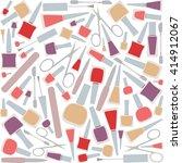 nail polish  nail clippers ...   Shutterstock .eps vector #414912067