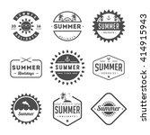 set of summer holidays labels...   Shutterstock .eps vector #414915943