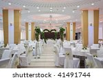 wedding reception table set... | Shutterstock . vector #41491744