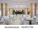 wedding reception table set... | Shutterstock . vector #41491744