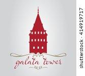 istanbul galata tower vector... | Shutterstock .eps vector #414919717