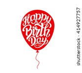happy birthday to you. hand... | Shutterstock .eps vector #414927757