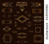 art deco frame. vintage design