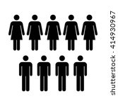 people icon   men   women vector | Shutterstock .eps vector #414930967