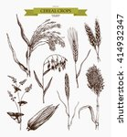vector collection of hand drawn ... | Shutterstock .eps vector #414932347