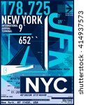 nyc   new york district   stock ... | Shutterstock .eps vector #414937573