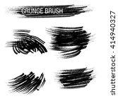 vector set of grunge brush... | Shutterstock .eps vector #414940327