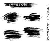 vector set of grunge brush... | Shutterstock .eps vector #414940333