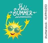 hello summer rock n roll poster.... | Shutterstock .eps vector #414941053
