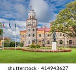 sigulda new castle  today the... | Shutterstock . vector #414943627