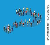 Group Of Isometric People...