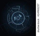 sci fi futuristic user... | Shutterstock .eps vector #414983257