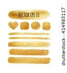 vector set of shining brush... | Shutterstock .eps vector #414985117