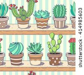 cactus and succulent collection ... | Shutterstock .eps vector #414985603