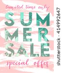 template for summer sale flyer... | Shutterstock .eps vector #414992647