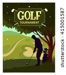 golf tournament. cartoon vector ... | Shutterstock .eps vector #415001587