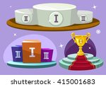 cartoon winners podium. vector... | Shutterstock .eps vector #415001683