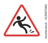 warning sign  caution wet floor.... | Shutterstock .eps vector #415007083