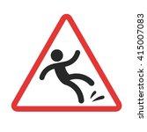 warning sign  caution wet floor.... | Shutterstock .eps vector #415007083