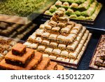 eastern sweets in a wide range  ... | Shutterstock . vector #415012207