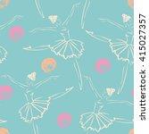 linear sketch of the dancing... | Shutterstock .eps vector #415027357