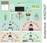 freelance infographic concept... | Shutterstock .eps vector #415027627
