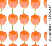 seamless floral pattern with... | Shutterstock .eps vector #415041667