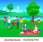 vector character people on... | Shutterstock .eps vector #415056793