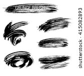 vector set of grunge brush... | Shutterstock .eps vector #415082893