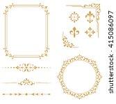vintage set. floral elements... | Shutterstock . vector #415086097