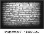 brick gray wall background and... | Shutterstock . vector #415090657